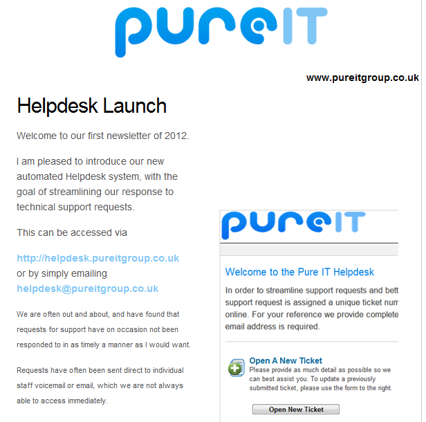 Pure IT March 2012 Newsletter